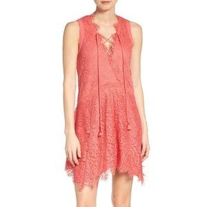 NWT Adelyn Rae Lace Shift Dress in Coral